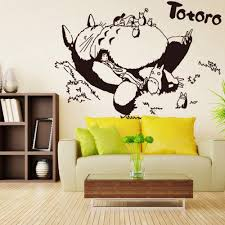 Amazon Com Wall Decal Totoro Sleeping Totoro Tv Setting Wall Stickers Anime Curtilage Hayao Miyazaki Totoro Home Kitchen