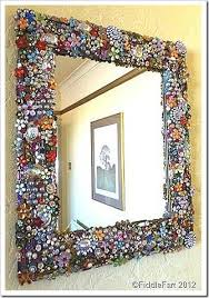 mirror frame made using upcycled