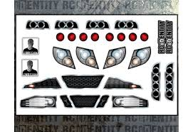 Headlight Grill Stickers For Rc Bodies
