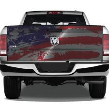 American Flag America Usa Distressed Grunge Tattoo Graphic Wrap Tailgate Vinyl Decal Truck Pickup Suv