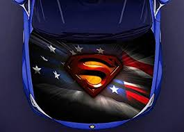 Amazon Com Superman Superhero Full Color Car Hood Vinyl Car Vinyl Graphics Gc 2081 Baby