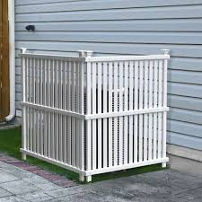 Outdoor Privacy Screen Lattice Enclosure Fence White Trash Can Hide 2 Panels Set 6091203253038 Ebay