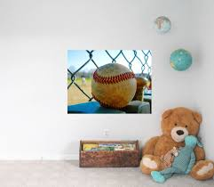 Baseball Wall Decal Baseball Decor Vinyl Wall Decal Sports Decal Baseball Wall Mural Removable Decal Photo By Abby Smith Home Decor