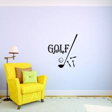 Custom Wall Decal 19th Hole Golf Ball Club Tee Gear Sports Quote Vinyl Wall Sticker 10x20 Walmart Com Walmart Com
