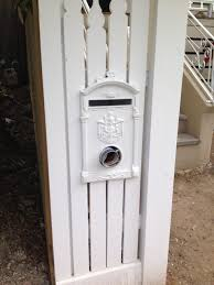 Aluminium Letterbox Suitable For Steel Picket Fence And Timber Picket Fence And Aluminium Fence Letterbox Picket In 2020 Fence Design Wooden Fence Picket Fence