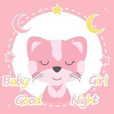 Baby Shower Vector Ilustracion De Dibujos Animados De Nina De Gato