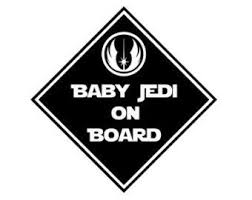 Star Wars On Etsy A Global Handmade And Vintage Marketplace Baby Jedi Bumper Stickers Vinyl Decals