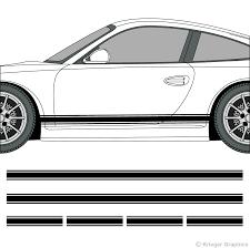 Porsche 718 And 911 Rocker Panel Stripes 3m Vinyl Decal Kit