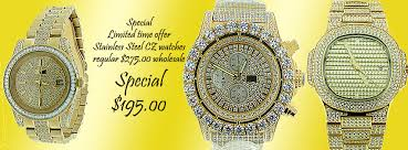 hip hop watches snless steel jewelry