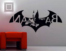 Big Batman Wall Stickers Lego Uk Bedroom Etsy Art Logo White Ireland Vinyl Decor Vamosrayos
