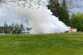 Truck fire at entrance to Port Alberni marina causes excitement ...
