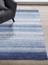 1414 blue 5x7 area rug modern carpet