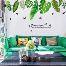 Wallums Large Windy Tree Wall Decal With Birdhouse 77 Tall Brown Trunk With Lime Green Leaves Wall Stickers Murals