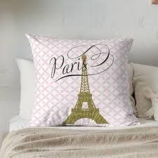 Nursery Pillow Eiffel Tower Pillow Kids Room Decor Girls Etsy