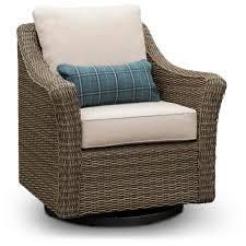 woven wicker swivel patio chair oak