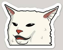 Smudge White Cat Meme Sticker Water Bottle Laptop Tumbler Car Vinyl Decal Ebay