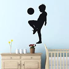 Amazon Com Soccer Wall Decals For Bedroom 3d Soccer Wall Stickers For Boys Rooms Soccer Wall Decor Stickers Removable Vinyl Sports Decal Wall Murals Decoration Nursery Christmas Birthday Gifts Soccer Wall Decal Kitchen
