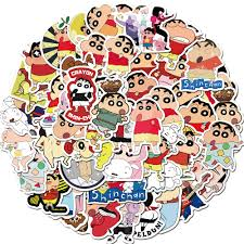 50pcs Pack Crayon Shinchan Hot Japan Cartoon Anime Waterproof Pvc Stickers For Kids Bedroom Wall Decals Home Decor Diy Stickers Wall Stickers Aliexpress