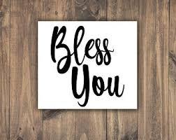 Bless You Vinyl Etsy