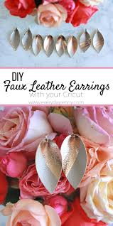 diy faux leather earrings with cricut