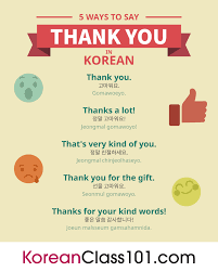 how to say thank you in korean koreanclass