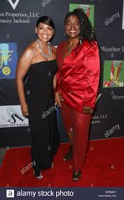 Los Angeles, California, USA. 4th August, 2019. Radio host Adai Lamar and  fashion designer Stormy Weather