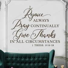 Rejoice Always Pray Continually Give Thanks Christian Wall Sticker Vinyl Bible Verse Wall Decal For Home Decor Art Hj785 Wall Stickers Aliexpress