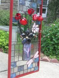3d stained glass art flowers by
