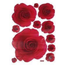 50 70cm Pretty Wall Sticker 3d Rose Red Rose Flower Removable Home Decor Decals Aliexpress Com Imall Com