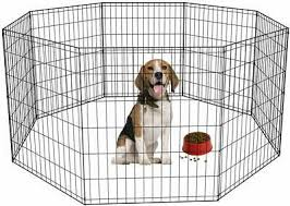30 Tall Dog Playpen 8 Panel Exercise Fence Cage Kennel W Door Outdoor Indoor Fences Exercise Pens Pet Supplies