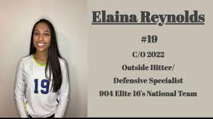 Elaina Reynolds 2020 Volleyball Highlight Video. - YouTube