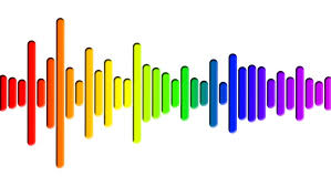 Hd Sound Gauge in Rainbow Stock Footage Video (100% Royalty ...