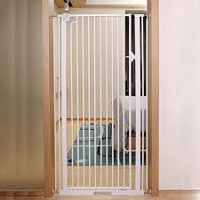 Baby Safety Barrier Stairs Doors Hallways Kitchen Indoor Safety Net For Pets Extra High Dog Gate Height 120 Cm White Amazon De Kuche Haushalt