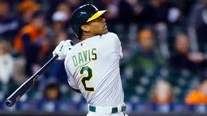 Khris Davis leaves A's game with right groin strain | abc7news.com