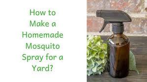 homemade mosquito spray for yard