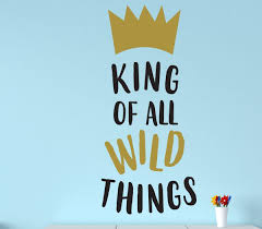 Wall Decal For Kids King Of Wild Things Where The Wild Things Are Theme Room Crown Design Decor For Children S Bedroom Or Playroom Customvinyldecor Com