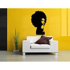 Amazon Com Wall Room Decor Art Vinyl Sticker Mural Decal Afro Girl Black Woman Head Poster Face As2687 Home Kitchen