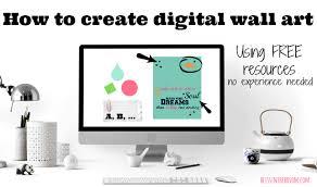 create beautiful digital wall art
