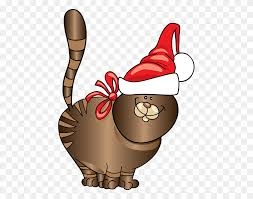 Cat Christmas Clipart - Free Christmas Clip Art – Stunning free transparent  png clipart images free download