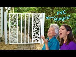 Diy Pvc Pipe Gate With Snap On Hinge Part 1 Youtube