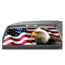 Wholesale 135 36cm Car Rear Window Graphic Eagle Flag Decal Tint Print Sticker For Truck Suv From China