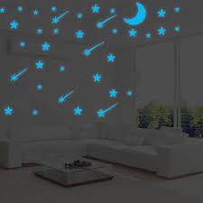 Glow In The Dark Falling Star Kid Room Wall Sticker Luminous Home Decor Decal For Sale Online