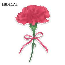 Ebdecal Lovely Pink Bow Tied Carnation For Auto Car Bumper Window Wall Decal Sticker Decals Diy Decor Ct11512 Car Stickers Aliexpress