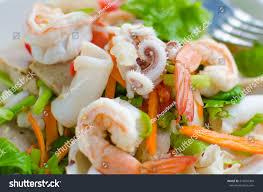 Thai Seafood Salad Stock Photo (Edit ...