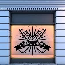 Vape Store Logo Wall Window Decal Sticker Vape Shop Vaping Shop Glass Wall Stickers Waterproof Removable Decals Hot Sale Lc093 Window Decals Decal Stickerglass Wall Aliexpress