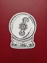 Crystal Ball Sticker Art Freehand Drawn Car Decal Artist Etsy