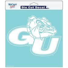 Gonzaga Bulldogs 8 X 8 Inch Die Cut Decal White