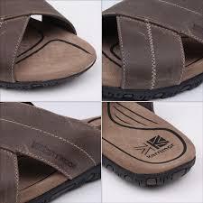 karrimor lounge slide leather mens sandals