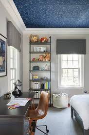 Transitional Kids Room Showcases A Constellation From Ralph Lauren Constellation Wallpaper On The Ceili Boys Bedroom Decor Kids Room Wallpaper Awesome Bedrooms