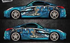 Amazon Com Car Side Full Color Vinyl Sticker Custom Body Decal Samurai Ninja Racing Drift Automotive